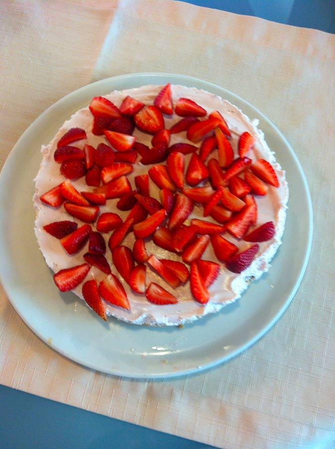 La cucina a Villa Paggi - torta fredda di yogurt